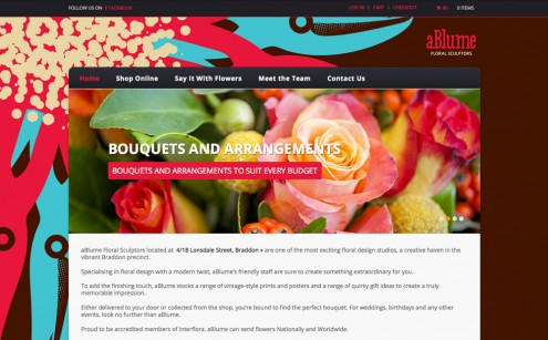 Ablume Floral Sculptors Website
