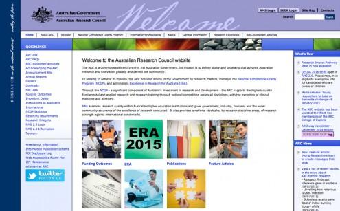 Australian Research Council Website