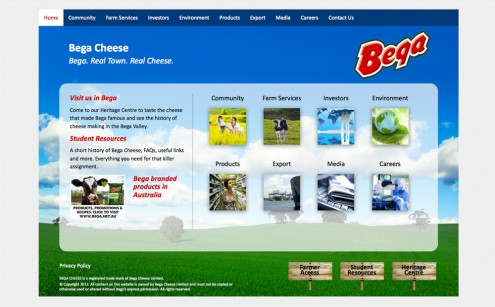 Bega Cheese Website
