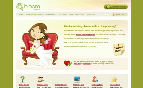 Bloom Wedding Planner Website