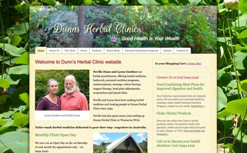 Dunns Herbal Clinic website