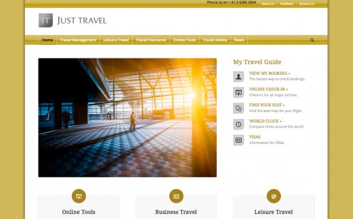 Just Travel website