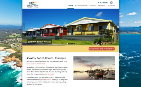 Seaview Beach Houses Website