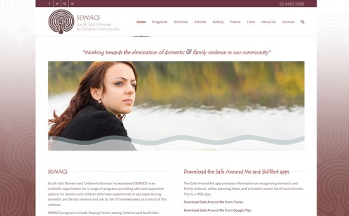 South East Women and Children's Services Website