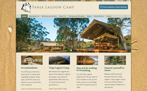 Tanja Lagoon Camp Website