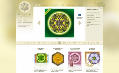 True Nature Mandalas Website