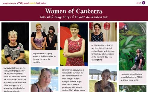 Women of Canberra Website